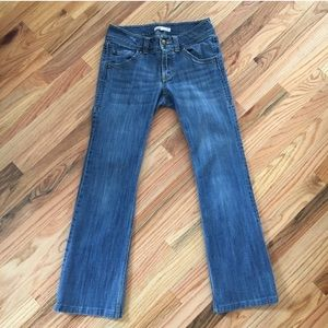 CAbi Flare Wide Waistband Low-Rise Jeans 2